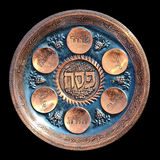 Vintage Passover Seder Plate Stock Photos