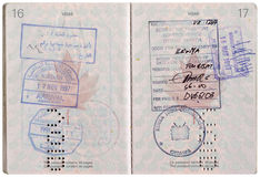 Vintage Passport Royalty Free Stock Photo