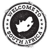 Vintage passport welcome stamp with South Africa. Stock Photography