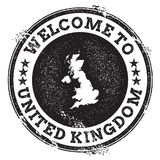 Vintage passport welcome stamp with United. Royalty Free Stock Image