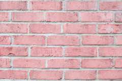 Vintage pastel pink color brick wall horizontal. Clean Background for design. Stock Images