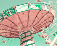 Vintage pastel swing ride Royalty Free Stock Images