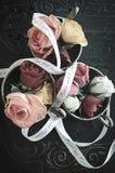 Vintage Pastel Wedding Roses stock photos