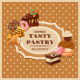 Vintage Pastry Frame Royalty Free Stock Images