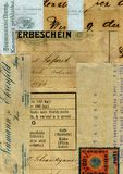 Vintage patchwork collage background with text Stock Images