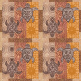 Vintage patchwork with a picture  grunge background Royalty Free Stock Photos
