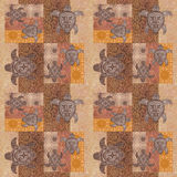 Vintage patchwork with a picture  grunge background Royalty Free Stock Photo