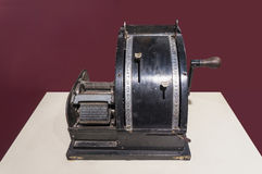 A vintage 1904 patented addressing machine on display Stock Photography