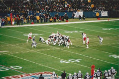 Vintage Patriots v. Chiefs 2000 MNF game Royalty Free Stock Image