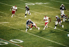 Vintage Patriots v. Chiefs 2000 MNF game (Drew Bledsoe) Royalty Free Stock Image