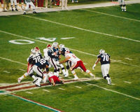 Vintage Patriots v. Chiefs 2000 MNF game (Drew Bledsoe) Royalty Free Stock Images