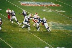 Vintage Patriots v. Chiefs 2000 MNF game (Drew Bledsoe) Stock Image