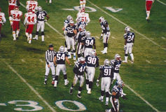 Vintage Patriots v. Chiefs 2000 MNF game Stock Photography