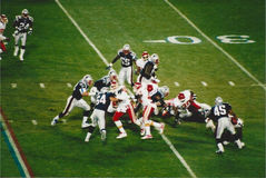 Vintage Patriots v. Chiefs 2000 MNF game Royalty Free Stock Images