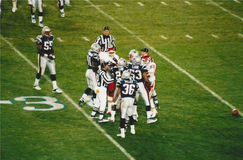Vintage Patriots v. Chiefs 2000 MNF game Stock Images