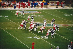 Vintage Patriots v. Chiefs 2000 MNF game Royalty Free Stock Photo