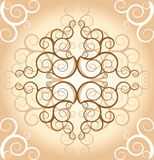 Vintage pattern. Beige ornate vintage abstract pattern Royalty Free Stock Photos