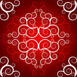 Vintage pattern. Red ornate vintage abstract pattern Stock Photo