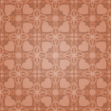 Vintage pattern. Vintage vector pattern with hearts. The color can be changed Royalty Free Stock Image