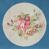 Vintage pattern with blue flowers Royalty Free Stock Photo