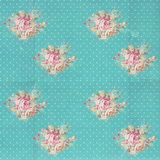 Vintage pattern with blue flowers Stock Photo