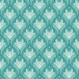 Vintage pattern with damask ornament, seamless Royalty Free Stock Image