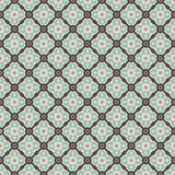 Vintage pattern. Vintage dark brown, light yellow and blue colors seamless pattern Royalty Free Stock Image