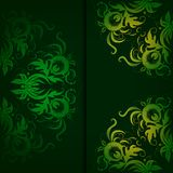 Vintage pattern on a dark green background. Royalty Free Stock Photography