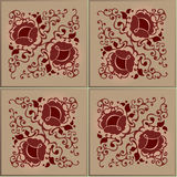 Vintage pattern with decorative flowers. Royalty Free Stock Image