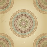 Vintage pattern with ethnic ornament on grunge background Royalty Free Stock Image