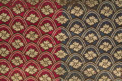 Vintage pattern on fabric Stock Images