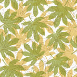 Vintage pattern with falling leaves Royalty Free Stock Photo