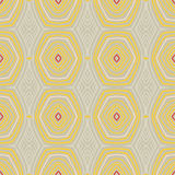 Vintage pattern fifties wallpaper. Abstract vector seamless pattern with lines similar to 50s and 60s wallpapers design. Concept of home, vintage, coziness; for Royalty Free Stock Photo