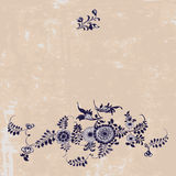 Vintage pattern, floral  elements in gzhel style,  Royalty Free Stock Image