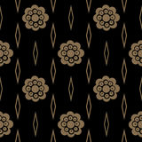 Vintage pattern with flower Stock Photos