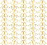 Vintage pattern in gold color. Vintage pattern in gold. Elegant pattern in antique style Royalty Free Stock Images
