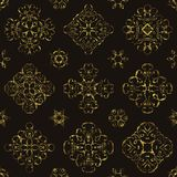 Vintage pattern with gold lace floral decoration. Grunge design. Can be used for modern design royalty free illustration