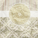 Vintage pattern, golden napkin Stock Image