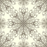 Vintage pattern with linear ornament. Vector Royalty Free Stock Images