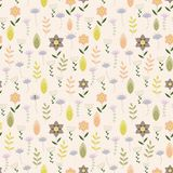 Vintage pattern with little flowers Royalty Free Stock Photography