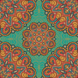 Vintage pattern of mandalas. Abstract colorful ornament Royalty Free Stock Photo