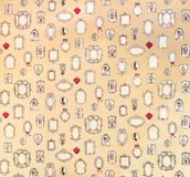 Vintage pattern with mirror icons. Royalty Free Stock Image