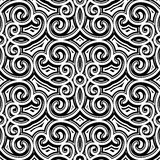Vintage pattern. Vintage ornament, black and white seamless pattern Royalty Free Stock Photos