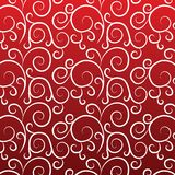 Vintage pattern on a red background. Curves lines (seamless texture Stock Illustration