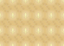 Vintage pattern with royal lilies Royalty Free Stock Photos