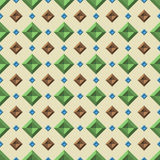 Vintage pattern. Seamless pattern with random color diamonds Royalty Free Stock Image