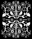 Vintage pattern. Seamless vintage wallpaper pattern with black colour background Stock Image