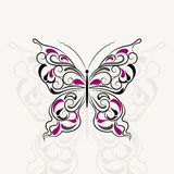 Vintage pattern in shape of a butterfly Royalty Free Stock Images
