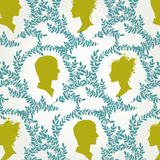 Vintage pattern with silhouettes of men and women Royalty Free Stock Image