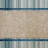 Vintage pattern with snowflake Stock Photo